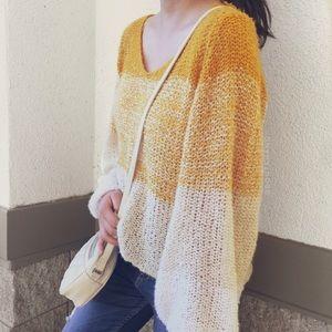 Yellow/Cream Knit Sweater